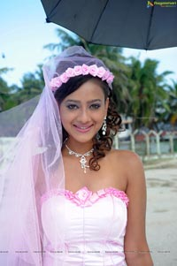 Madalasa Sharma in Church Wedding Dress