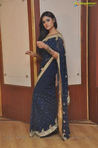 Sony Charishta in Blue Saree