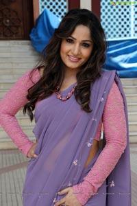 Madhavilatha Lavender Saree
