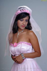 Madalasa Sharma in Pink Ball Gown