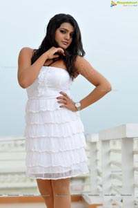 Charming Tashu Kaushik in Shoulderless White Gown