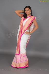 Divya Rao Saree Studio Shoot