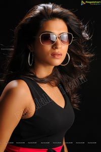 Stylish Shraddha Das in Short Black Frock