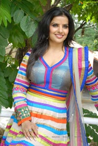 Madhu Sharma in Colorful Dress Photos