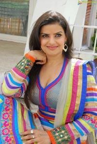 Madhu Sharma in Colorful Dress Photos