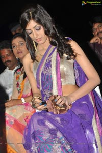 Ruby Parihar in Midriff Saree