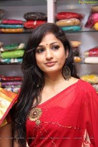 Beautiful Madhavi Latha in Red Saree