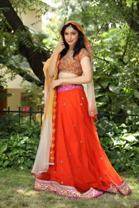 Sakshi Kakkar Orange Dress