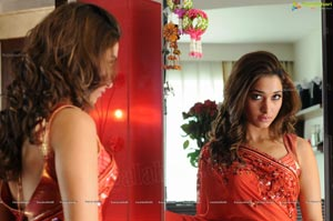 Tamanna in Red Saree