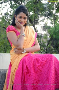 Himaja in Half Saree