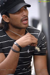 Allu Arjun on Sets