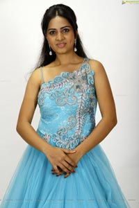 Srushti Dange in Long Blue Frock