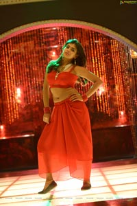 Hebah Patel Red Dress