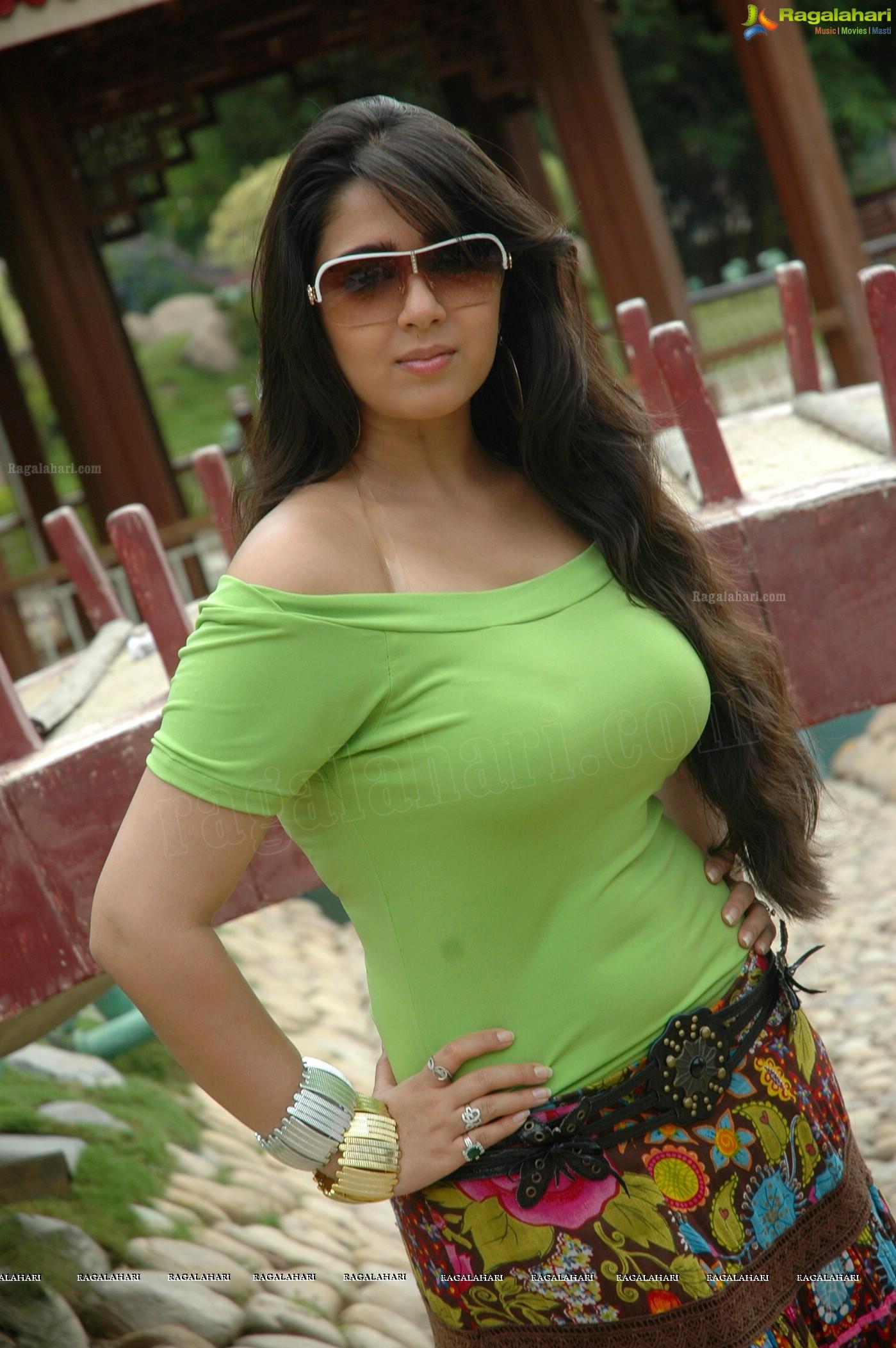 super hot charmi in saree - high resolution poster size photos