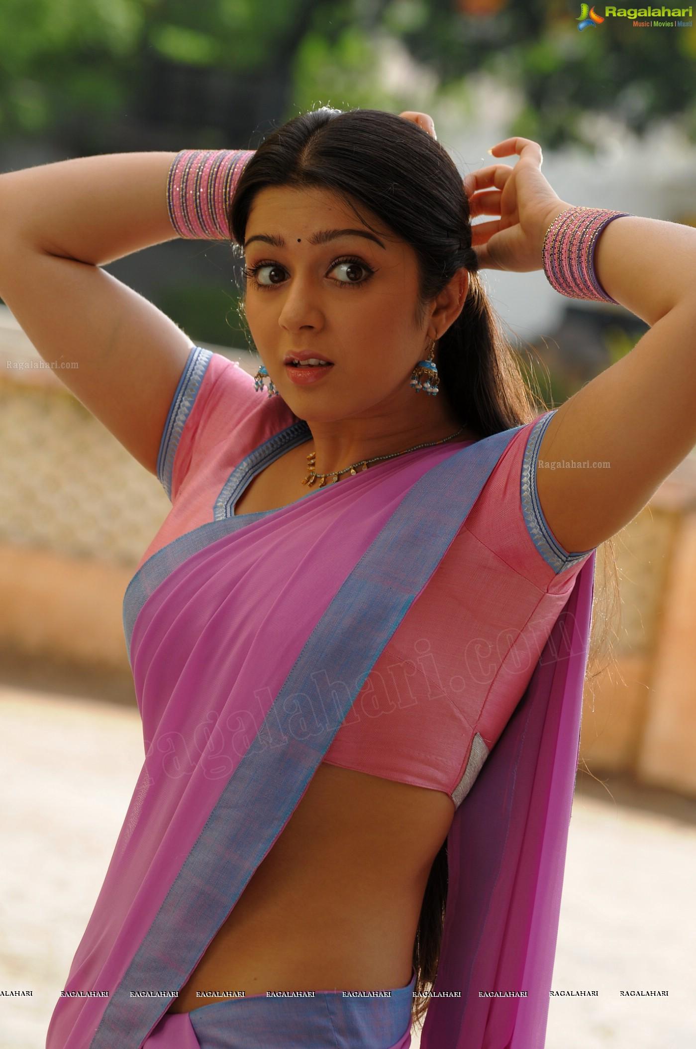 Charmi Hot Saree Photos