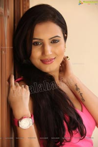 Anu Smriti Sarkar in Pink Dress