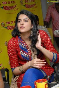 Deeksha Seth at Radio Mirchi for UKUP Promotions