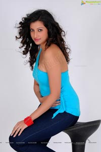 Photos of Hamsa Nandini in Hot Sleeveless Dress