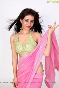 Niir Arora Midriff Saree Photos