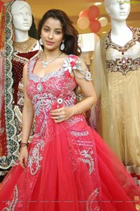 Beautiful Madhurima in Red Designer Frock