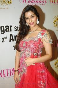 Beautiful Madhurima in Red Designer Frock