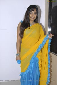 Beautiful Madhavi Latha in Yellow Saree