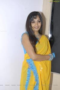 Beautiful Madhavi Latha in Yellow Saree