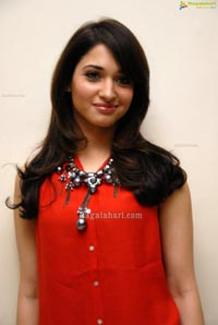 Beautiful Tamanna in Red Dress