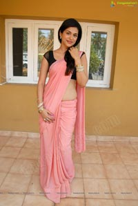 Gorgeous Shraddha Das in Low-Cut Back Saree