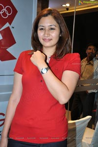 Photos of Jwala Gutta at Hyderabad Omega Watch Shop