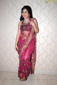 Hyderabad Model Madhu in Pink Saree
