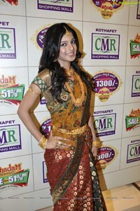 Photos of Hyderabad Model Navya at CMR Ashadam Sravanam Sale 2012
