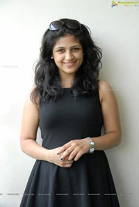 Supriya in Black Sleeveless Frock