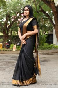 Poorna in Black Saree