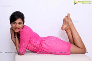 Beautiful Shraddha Das in a Pretty Pink Frock