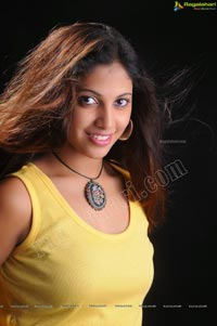 Model Soundarya Priya in Sleeveless T-Shirt and Jeans