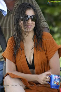 Hot Lakshmi Rai in Towelling Dress