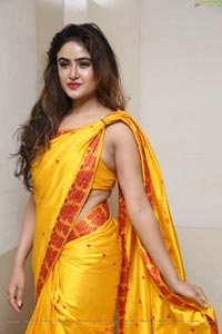 Sony Charishta Yellow Saree