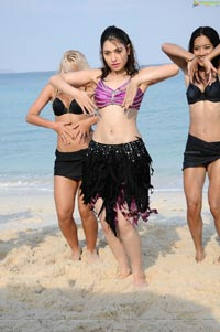 Tamanna Hot Rebel Beach Song Photos