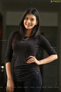 Hebah Patel in Black Dress