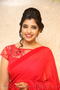 Shyamala in Red Saree