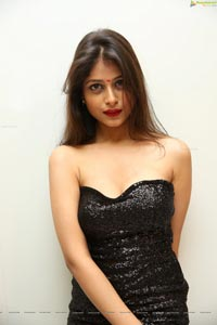 Twinkle Agarwal in Black Bandeau Maxi Dress