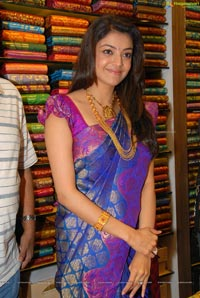 Beautiful Kajal Agarwal Purple Sareee