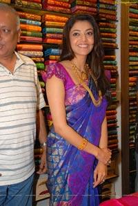 Beautiful Kajal Agarwal Purple Sareee