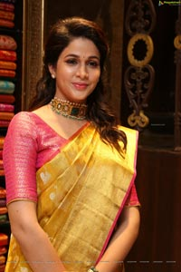 Lavanya Tripathi at Kanchipuram Kamakshi Silks Launch