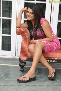 Tashu Kaushik in Short Gown